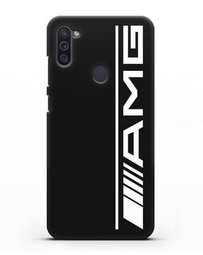 Чехол с логотипом AMG силикон черный для Samsung Galaxy M11 [SM-M115F]