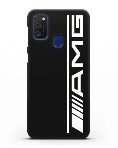 Чехол с логотипом AMG силикон черный для Samsung Galaxy M21 [SM-M215F]