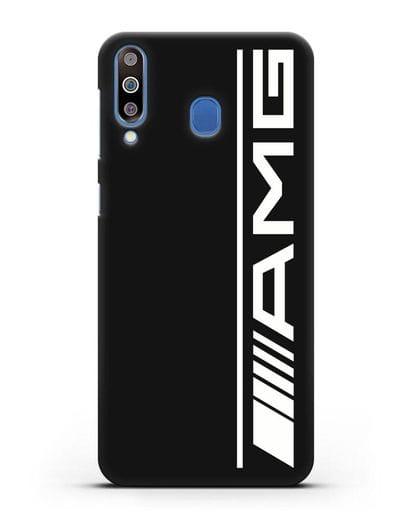 Чехол с логотипом AMG силикон черный для Samsung Galaxy M30 [SM-M305F]