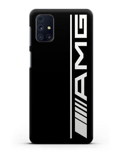 Чехол с логотипом AMG силикон черный для Samsung Galaxy M31s [SM-M317F]