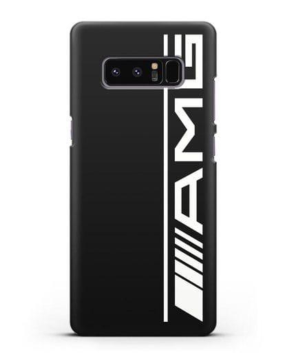Чехол с логотипом AMG силикон черный для Samsung Galaxy Note 8 [N950F]