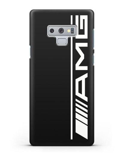 Чехол с логотипом AMG силикон черный для Samsung Galaxy Note 9 [N960F]