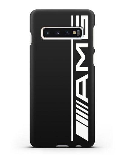 Чехол с логотипом AMG силикон черный для Samsung Galaxy S10 Plus [SM-G975F]