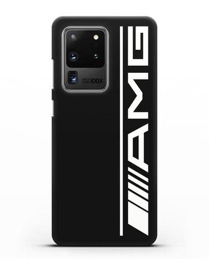 Чехол с логотипом AMG силикон черный для Samsung Galaxy S20 Ultra [SM-G988B]