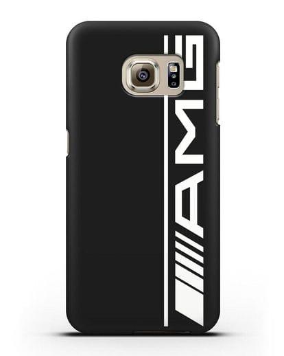 Чехол с логотипом AMG силикон черный для Samsung Galaxy S6 Edge [SM-G925F]