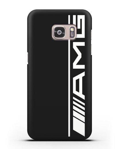 Чехол с логотипом AMG силикон черный для Samsung Galaxy S7 [SM-G930F]