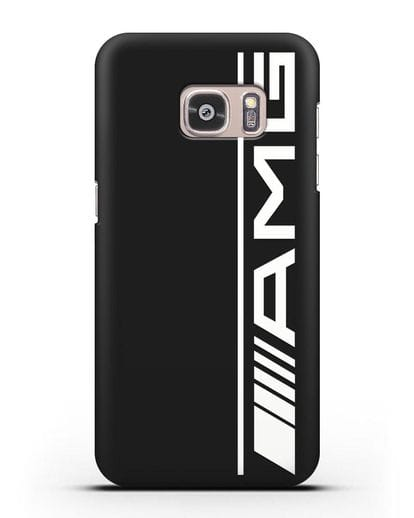Чехол с логотипом AMG силикон черный для Samsung Galaxy S7 Edge [SM-G935F]
