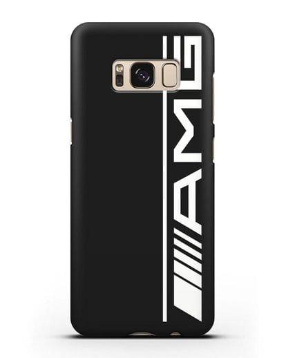 Чехол с логотипом AMG силикон черный для Samsung Galaxy S8 [SM-950F]