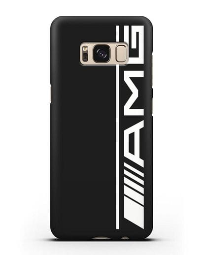 Чехол с логотипом AMG силикон черный для Samsung Galaxy S8 Plus [SM-G955F]