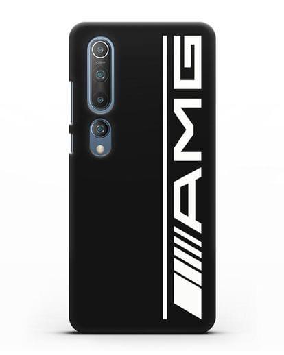 Чехол с логотипом AMG силикон черный для Xiaomi Mi 10 Pro