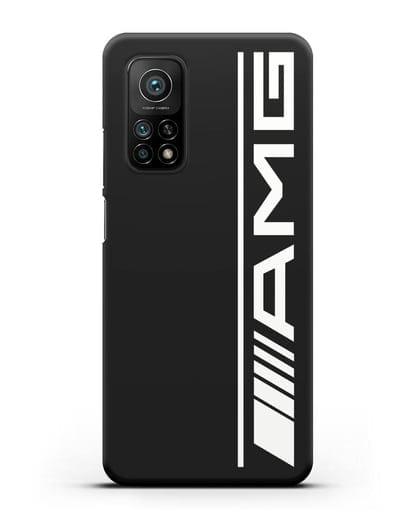 Чехол с логотипом AMG силикон черный для Xiaomi Mi 10T