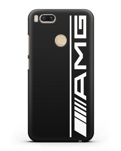Чехол с логотипом AMG силикон черный для Xiaomi Mi 5X