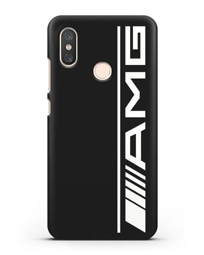 Чехол с логотипом AMG силикон черный для Xiaomi Mi 8