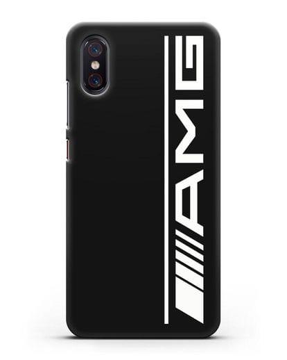 Чехол с логотипом AMG силикон черный для Xiaomi Mi 8 Pro