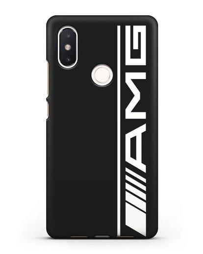 Чехол с логотипом AMG силикон черный для Xiaomi Mi 8 SE