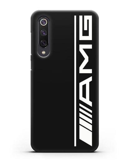 Чехол с логотипом AMG силикон черный для Xiaomi Mi 9 SE