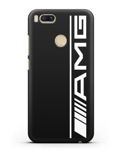Чехол с логотипом AMG силикон черный для Xiaomi Mi A1