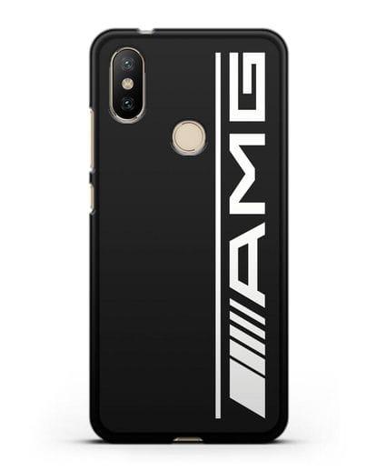 Чехол с логотипом AMG силикон черный для Xiaomi Mi A2