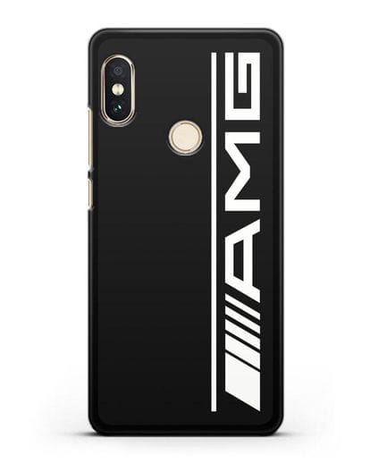 Чехол с логотипом AMG силикон черный для Xiaomi Mi A2 Lite