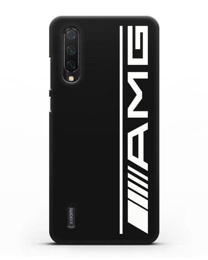 Чехол с логотипом AMG силикон черный для Xiaomi Mi A3 Lite