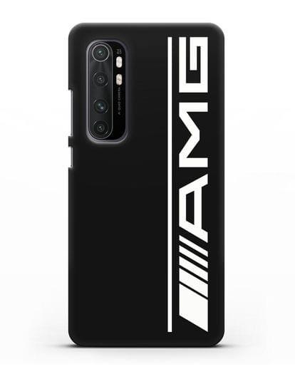 Чехол с логотипом AMG силикон черный для Xiaomi Mi Note 10 lite