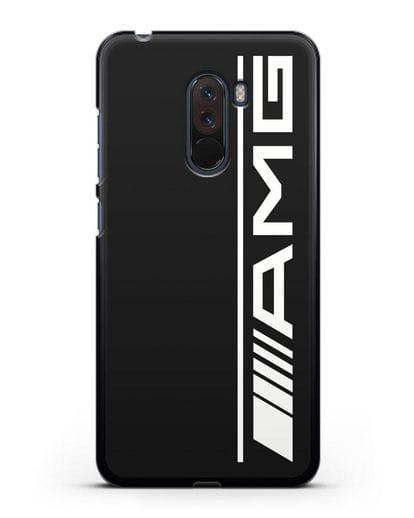 Чехол с логотипом AMG силикон черный для Xiaomi Pocophone F1