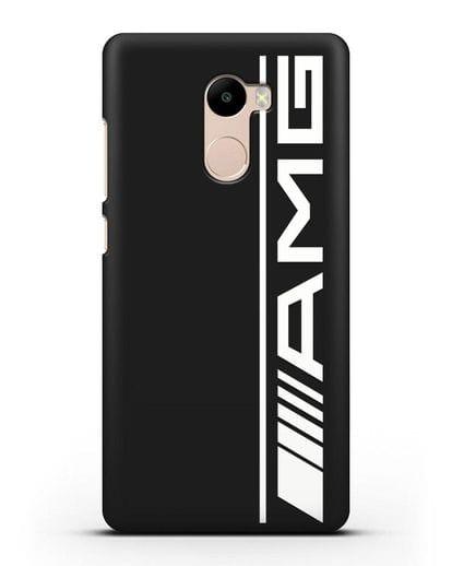 Чехол с логотипом AMG силикон черный для Xiaomi Redmi 4