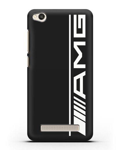 Чехол с логотипом AMG силикон черный для Xiaomi Redmi 4A