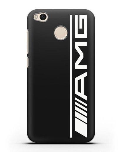Чехол с логотипом AMG силикон черный для Xiaomi Redmi 4X