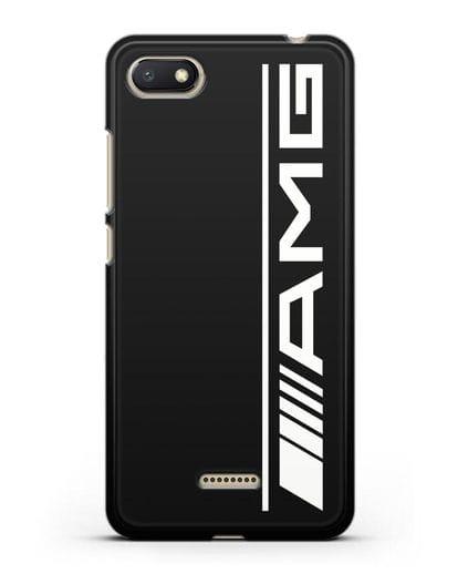 Чехол с логотипом AMG силикон черный для Xiaomi Redmi 6A