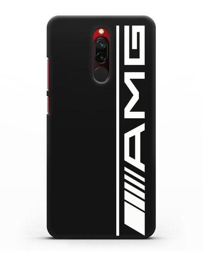 Чехол с логотипом AMG силикон черный для Xiaomi Redmi 8