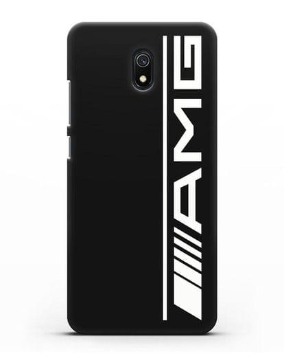 Чехол с логотипом AMG силикон черный для Xiaomi Redmi 8A