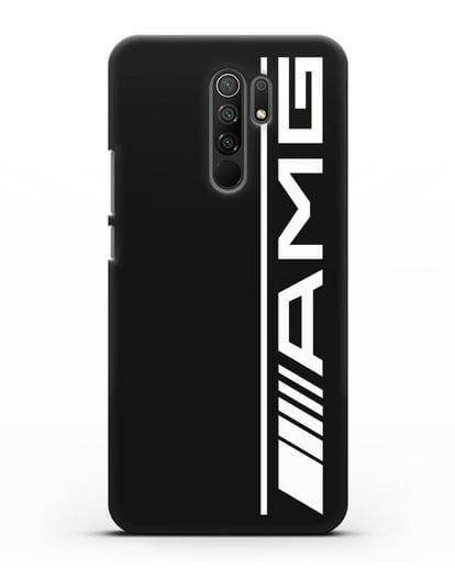 Чехол с логотипом AMG силикон черный для Xiaomi Redmi 9