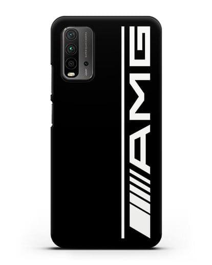 Чехол с логотипом AMG силикон черный для Xiaomi Redmi 9 Power