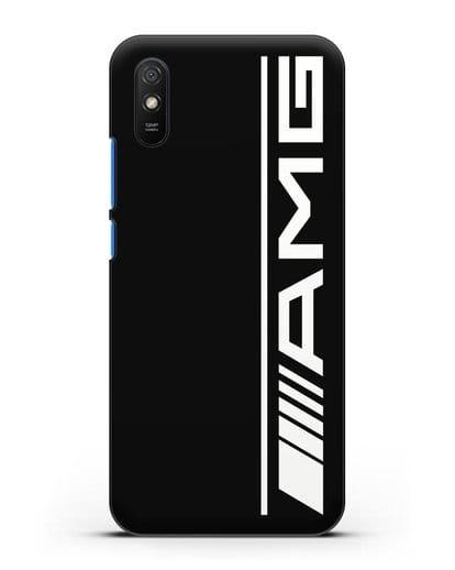 Чехол с логотипом AMG силикон черный для Xiaomi Redmi 9A