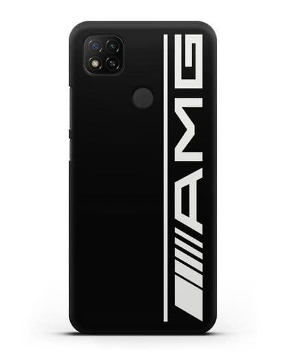 Чехол с логотипом AMG силикон черный для Xiaomi Redmi 9С