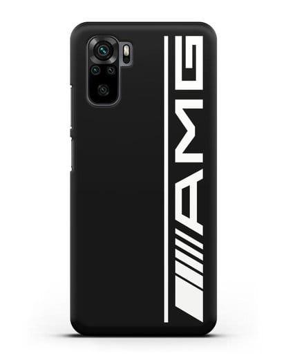 Чехол с логотипом AMG силикон черный для Xiaomi Redmi Note 10
