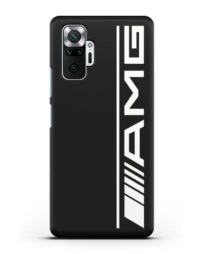 Чехол с логотипом AMG силикон черный для Xiaomi Redmi Note 10 Pro