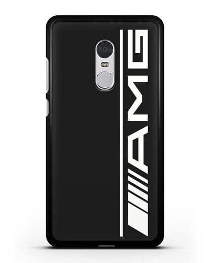 Чехол с логотипом AMG силикон черный для Xiaomi Redmi Note 4