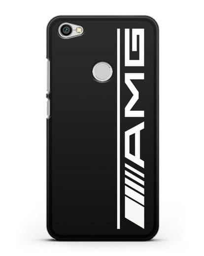Чехол с логотипом AMG силикон черный для Xiaomi Redmi Note 5A Prime