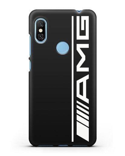 Чехол с логотипом AMG силикон черный для Xiaomi Redmi Note 6 Pro