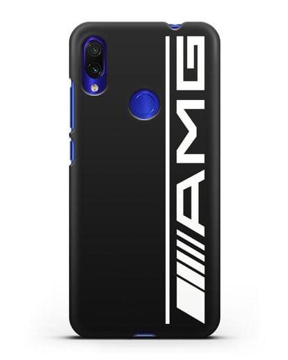 Чехол с логотипом AMG силикон черный для Xiaomi Redmi Note 7