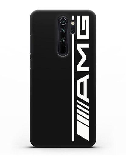 Чехол с логотипом AMG силикон черный для Xiaomi Redmi Note 8 Pro