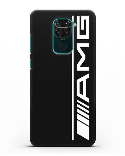 Чехол с логотипом AMG силикон черный для Xiaomi Redmi Note 9