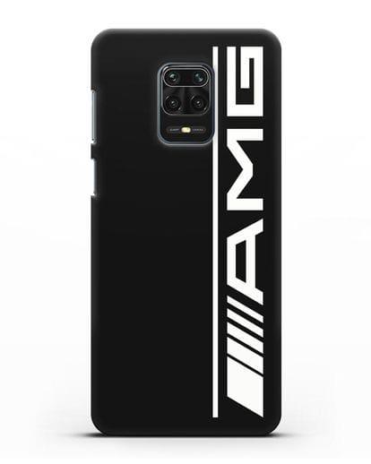 Чехол с логотипом AMG силикон черный для Xiaomi Redmi Note 9 Pro
