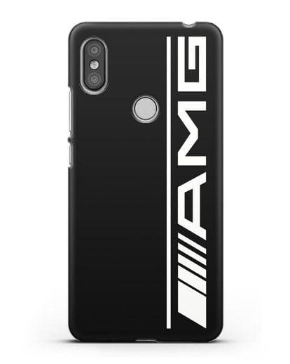 Чехол с логотипом AMG силикон черный для Xiaomi Redmi S2