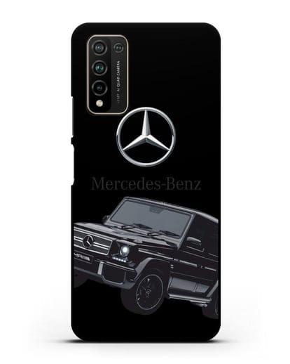 Чехол с картинкой Мерседес Гелендваген силикон черный для Honor 10X Lite