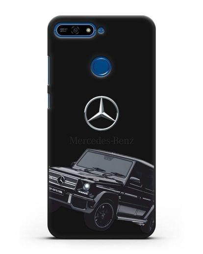 Чехол с картинкой Мерседес Гелендваген силикон черный для Honor 7А Pro