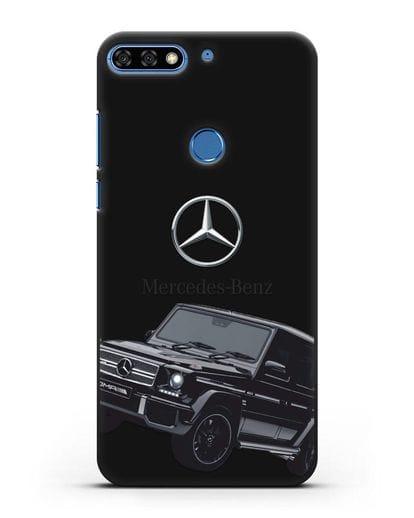 Чехол с картинкой Мерседес Гелендваген силикон черный для Honor 7C Pro