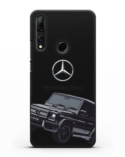 Чехол с картинкой Мерседес Гелендваген силикон черный для Honor 9X